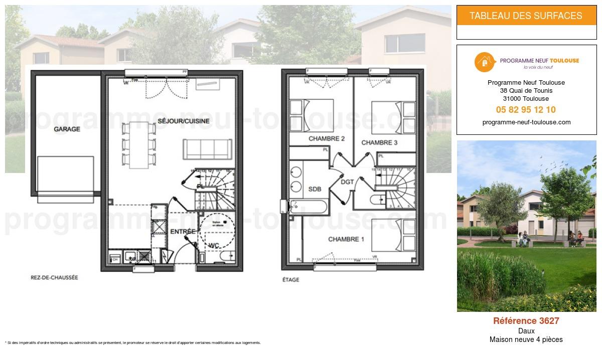 Plan pour un Maison neuve de  0m² à Daux