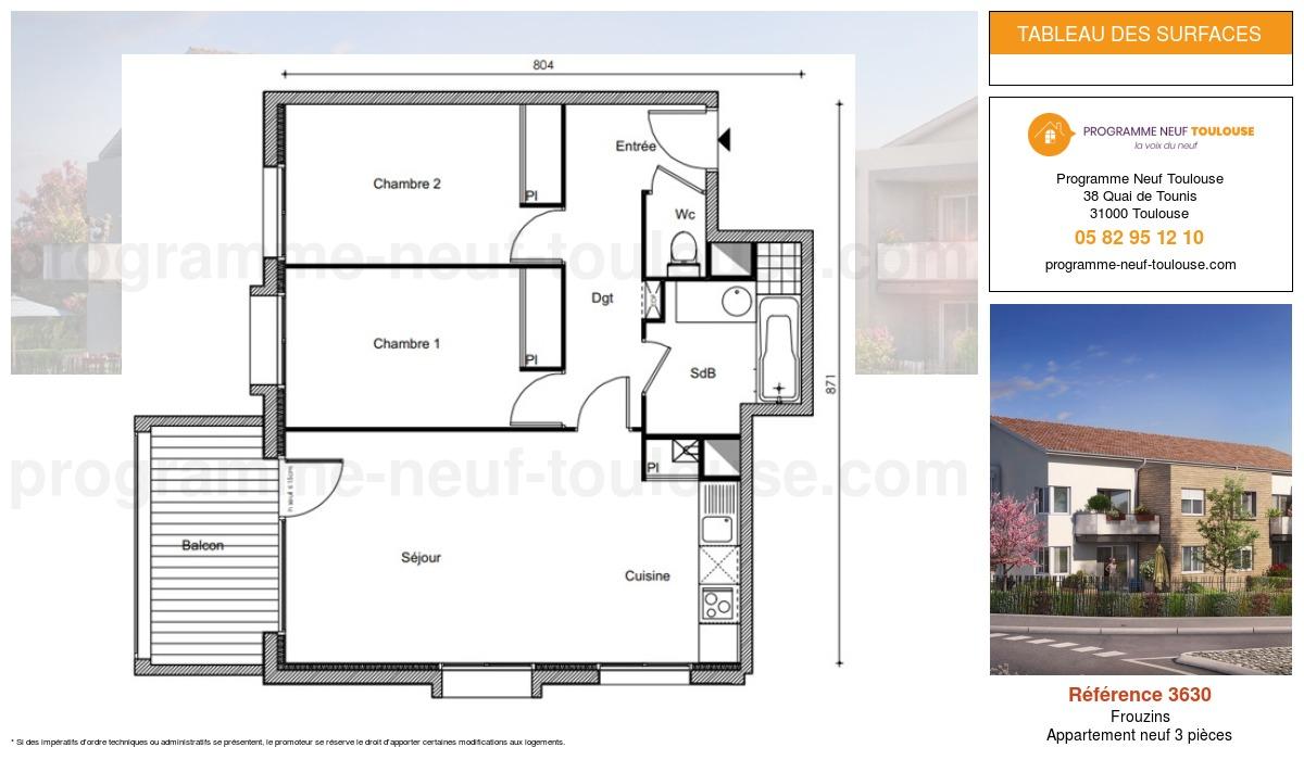 Plan pour un Appartement neuf de  0m² à Frouzins