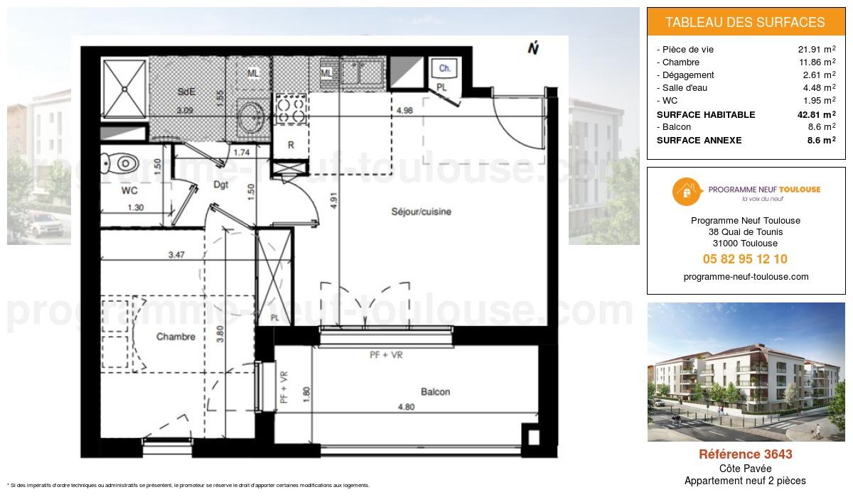 Plan pour un Appartement neuf de  0m² à Côte Pavée