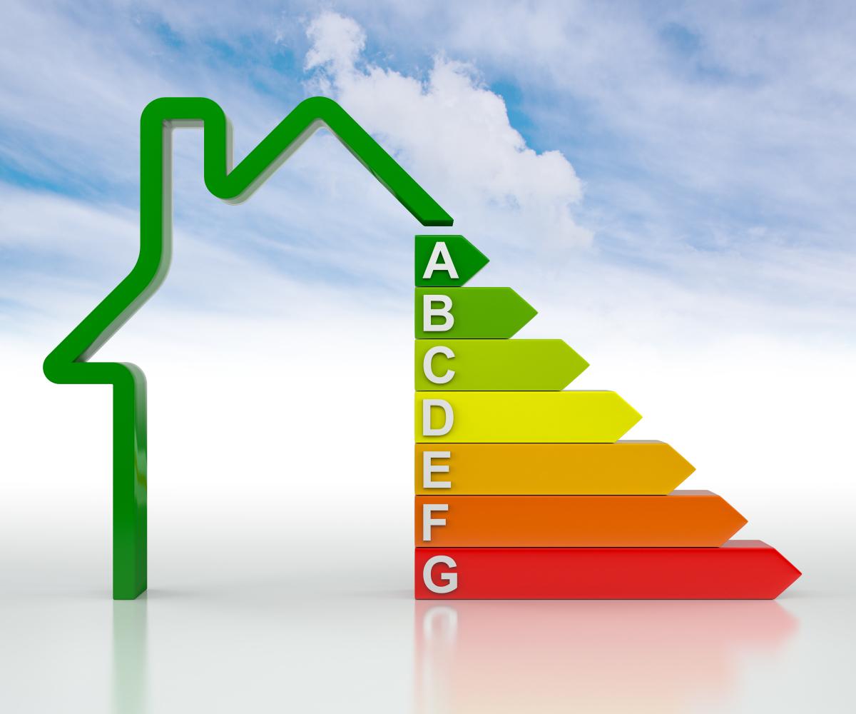 label bepos - concept d'économie d'énergie dans l'immobilier