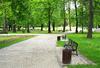 Végétalisation à Toulouse – Parc arboré et verdoyant avec une promenade et des bancs