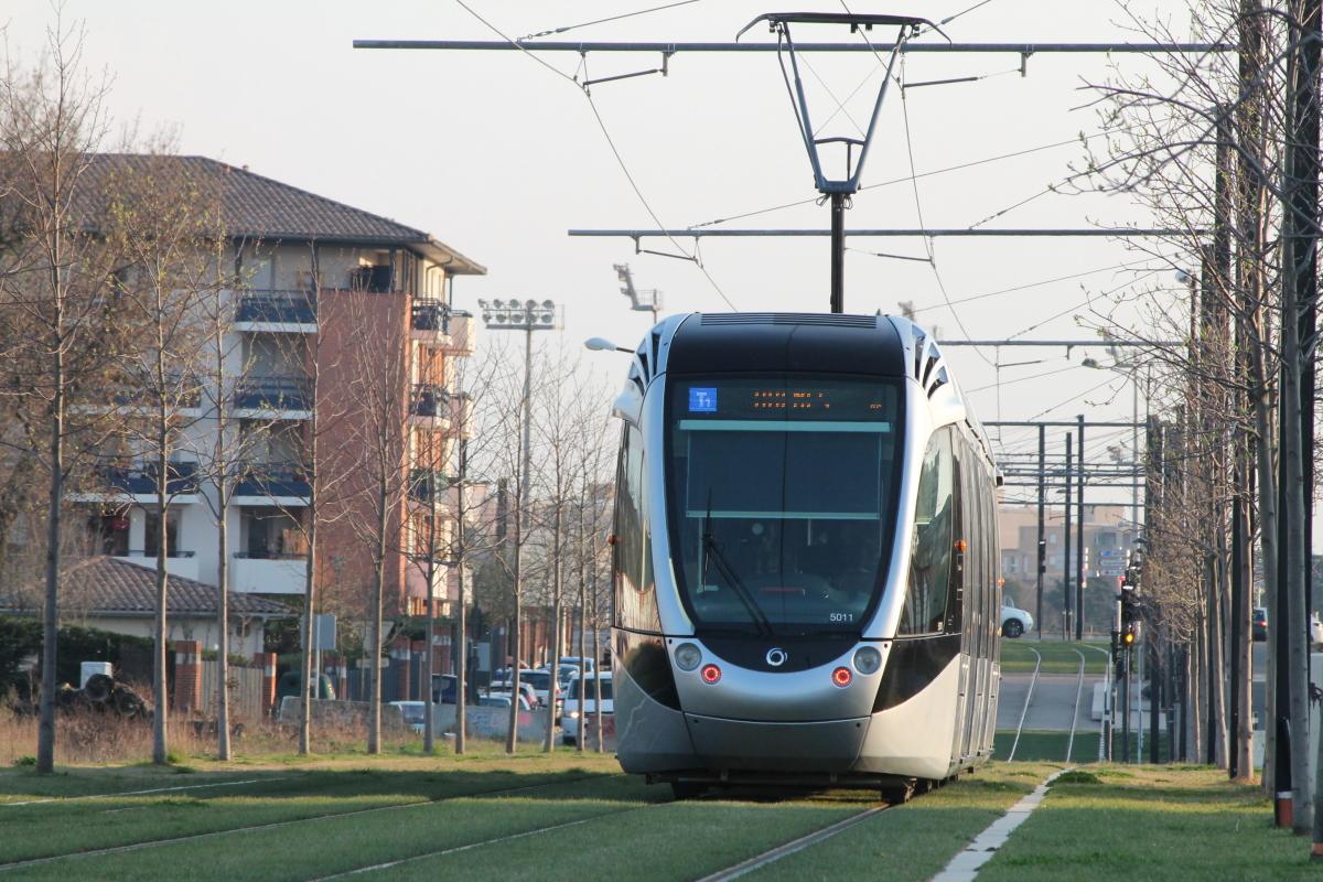 Quel quartier habiter à Toulouse – Le tramway entre les stations Cartoucherie et Zénith
