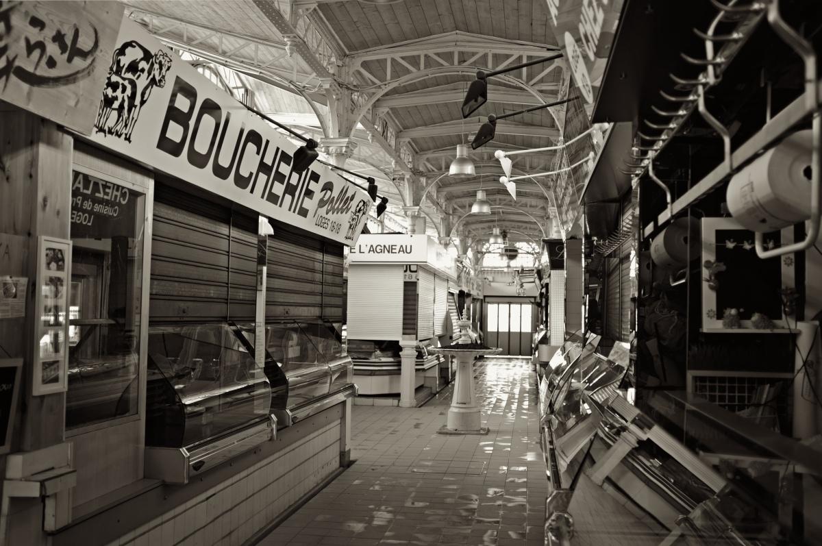 Quel quartier habiter à Toulouse – Boucherie du marché de Saint-Cyprien