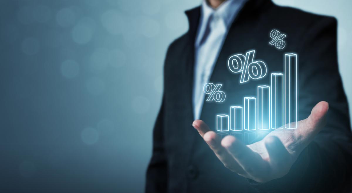 Crowdfunding immobilier - Concept de taux d'intérêt et de pourcentage